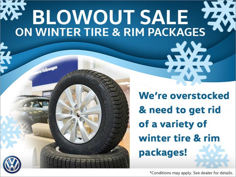 Winter Tire & Rim Blowout