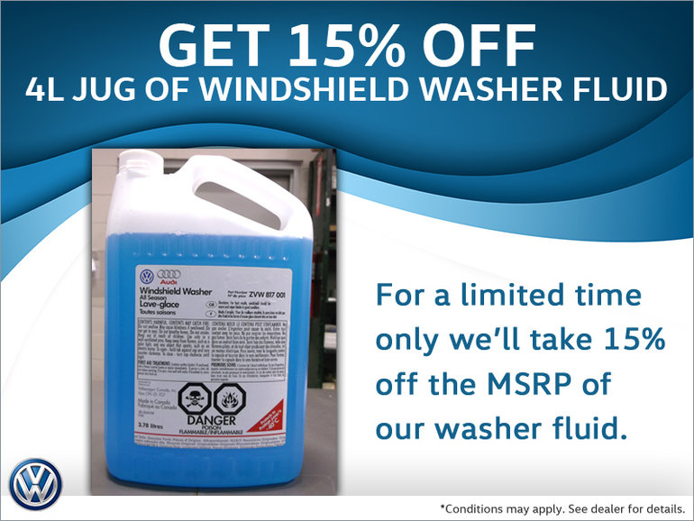 Save on Washer Fluid