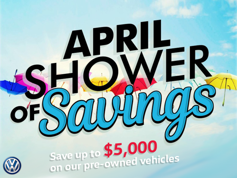 April Showers of Savings