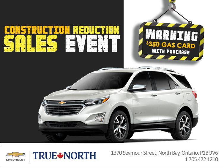 $350 Gas Card with your 2019 Equinox or Traverse!