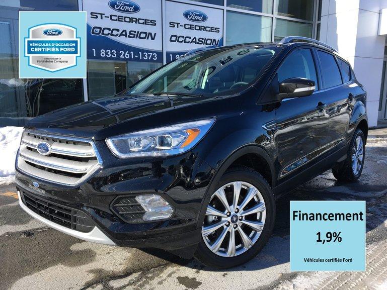Ford Escape Titanium AWD CERTIFIÉ FORD TAUX 1.9 % CUIR TOITGPS 2018