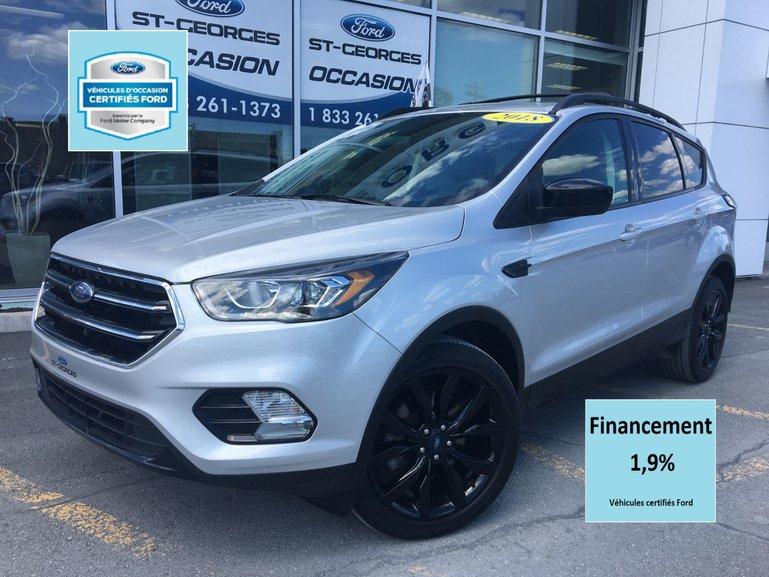 Ford Escape SE AWD BLACK PACK CERTIFIÉ FORD TAUX 1.9% GPS TOIT 2018