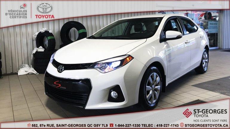 Toyota Corolla S,BAS KILOMÉTRAGE 2015