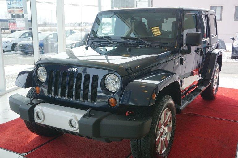 2013 Jeep WRANGLER UNLIMITED SAHARA SAHARA-ENSEMBLE 2 TOIT-4X4-UN SEUL PROPRIO