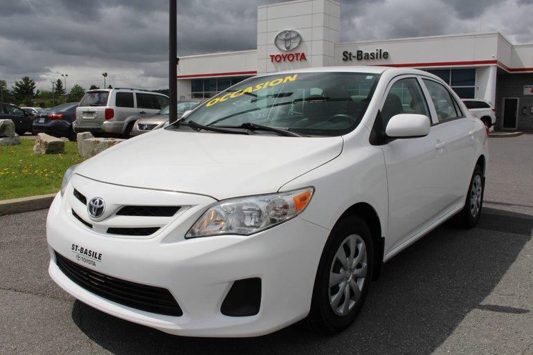 Toyota Corolla CE GR. ELEC A/C SIEGES CHAUFFANTS BLUETOOTH 2012