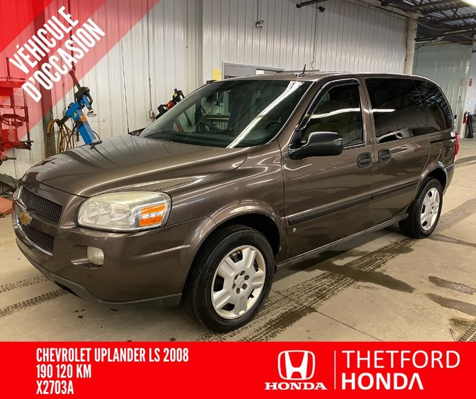 Thetford Honda Pre Owned 2008 Chevrolet Uplander Ls 7 Passagers Pneus Hiver For Sale In Thetford Mines