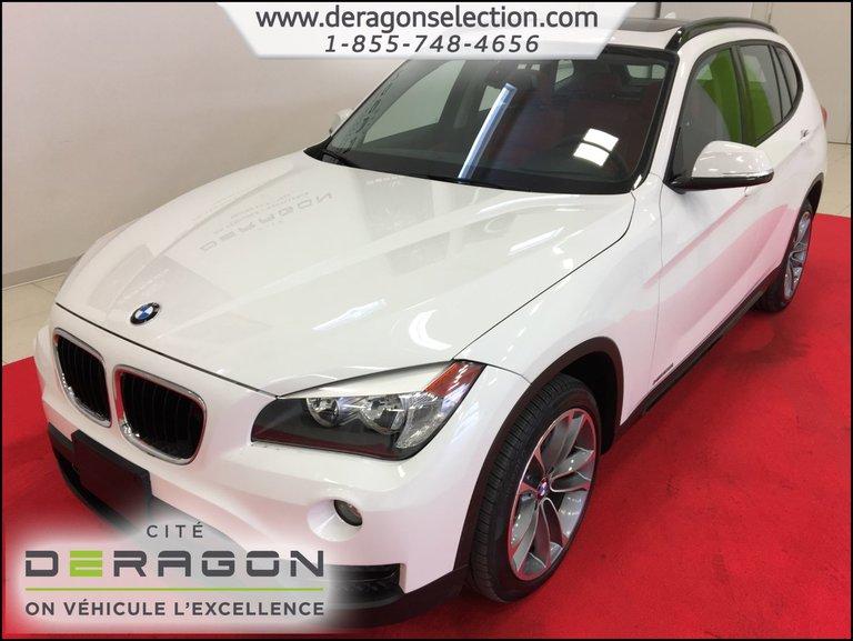 2014 BMW X1 XDRIVE28i + SPORTLINE + NAV + TOIT + CUIR ROUGE