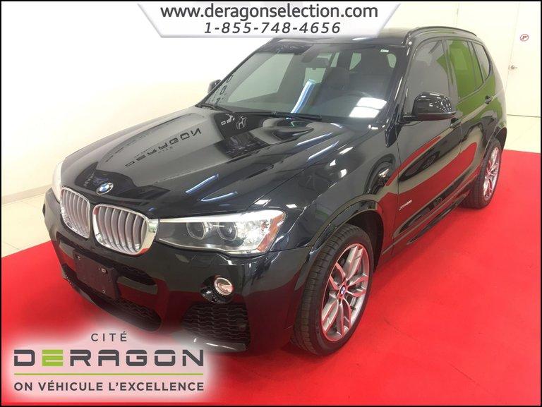 BMW X3 XDrive28i + M PACK + CUIR DAKOTA +  NAV + TOIT 2015