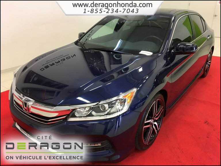 Honda Accord Sedan SPORT 2.4L + BAS KILO + VITRES TEINTEES 2016