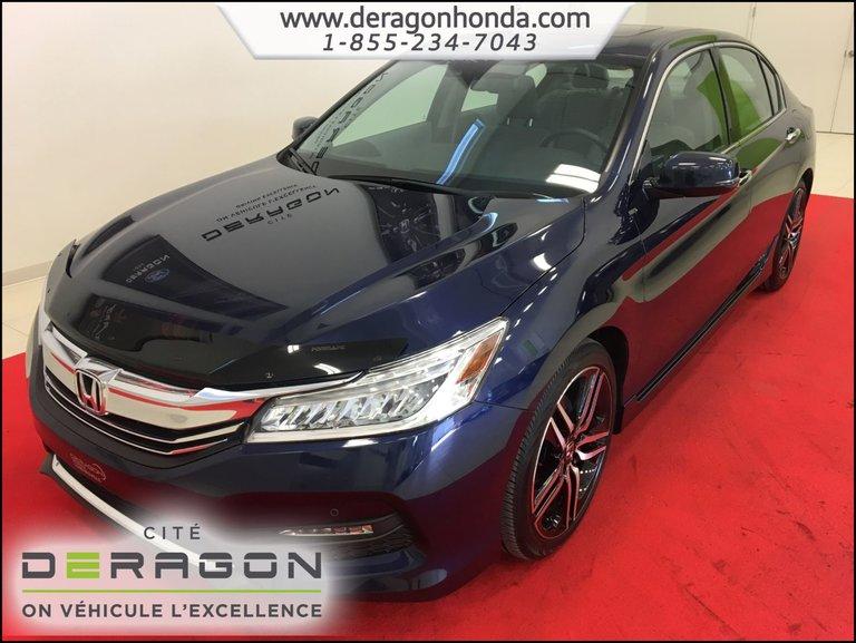 2016 Honda Accord Sedan TOURING V6 3.5L + GARANTIE PROLONGEE + AIR CLIM