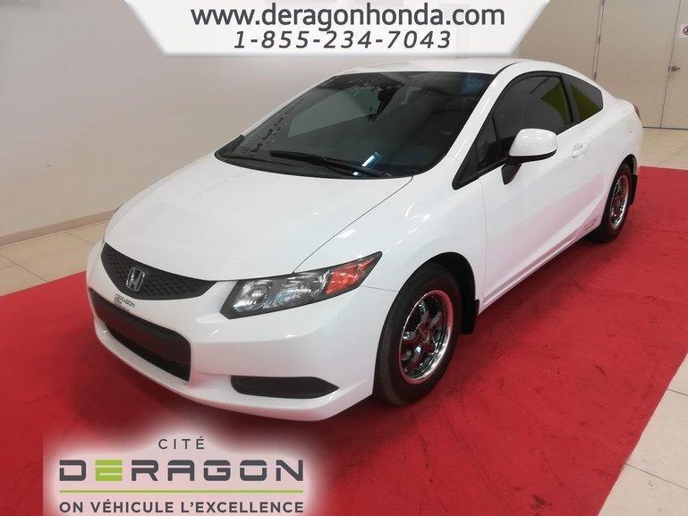 Honda Civic Coupe LX + JAMAIS ENDOMMAGE + VITRES TEINTEES 2012