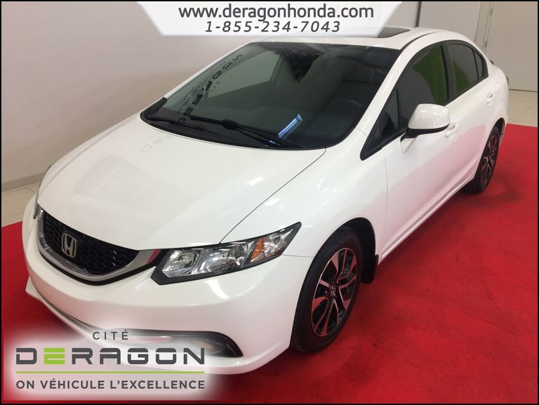 Honda Civic Sedan EX 1.8L + SIEGES CHAUFFANTS + CAMERA DE RECUL 2013