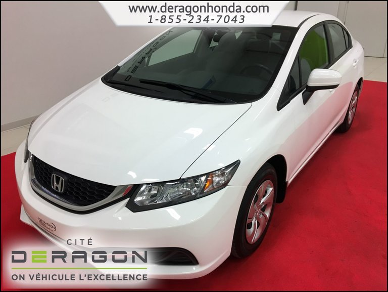 2014 Honda Civic Sedan LX AUTOMATIQUE 1.8L + BLUETOOTH + A/C