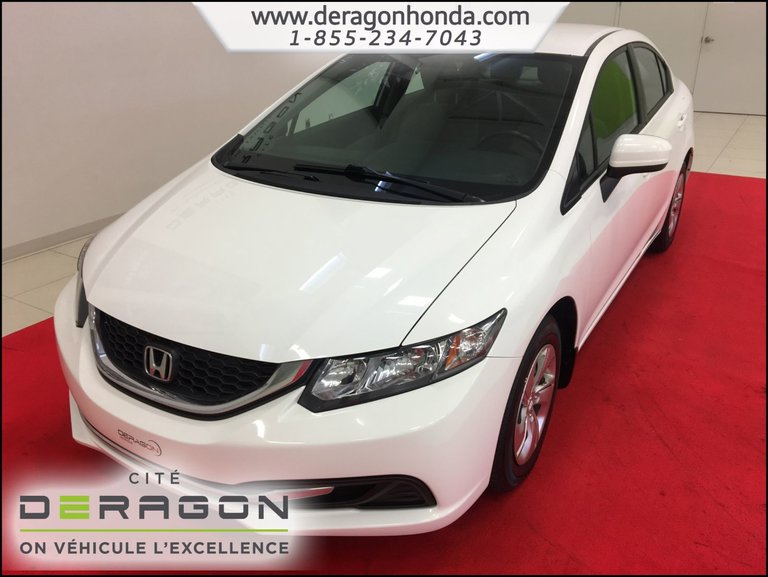 Honda Civic Sedan LX 1.8L + DEMARREUR A DISTANCE + BLUETOOTH 2014