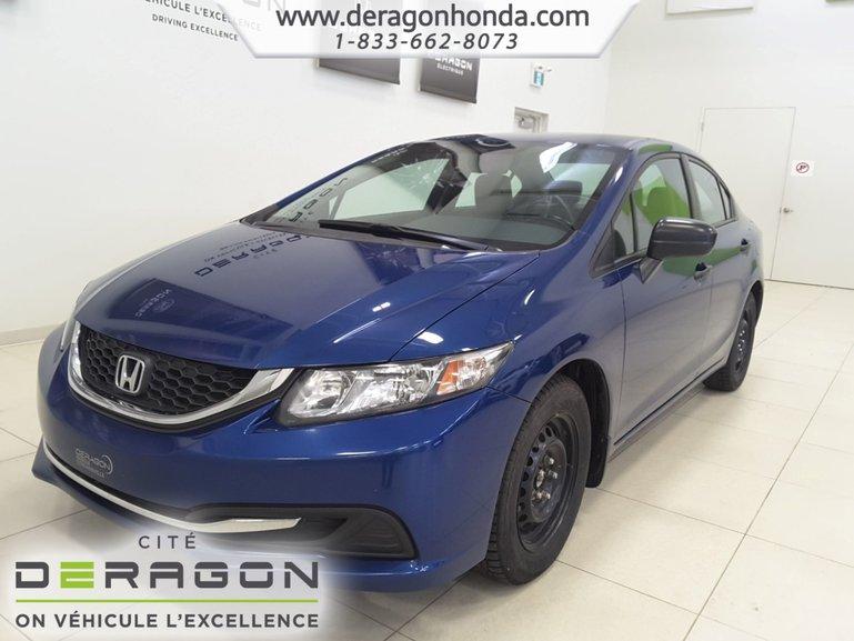 Honda Civic Sedan DX+DEMARREUR A DIST.+BAS KILOS.+VITRES ELECTRIQUES 2014