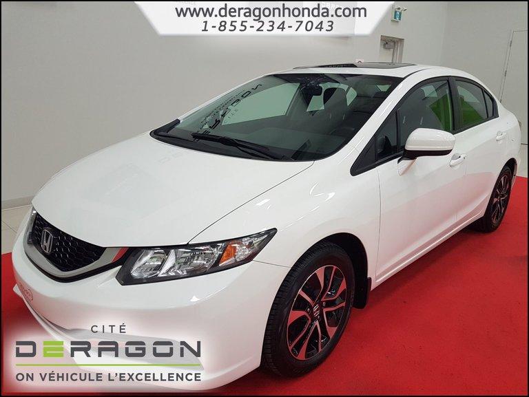2015 Honda Civic Sedan EX 1.8L + ROUE ALLIAGE 16PO + CAMERA DE RECUL