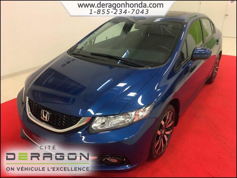 Honda Civic Sedan TOURING 1.8L + CAMERA DE RECUL + BLUETOOTH 2015