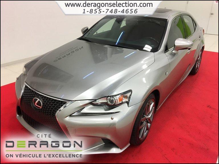 Lexus IS 350 F SPORT + AWD + TOIT + CUIR ROUGE + NAV + CAMERA 2014