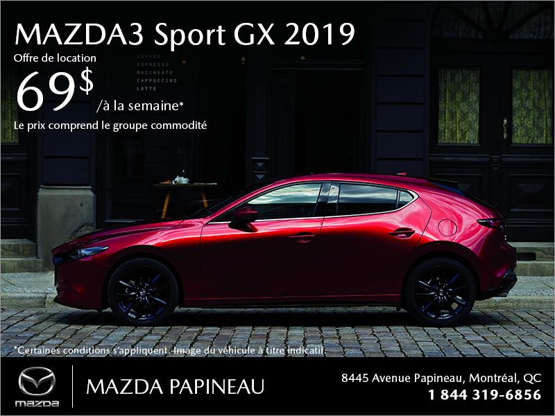 Procurez-vous la Mazda3 Sport 2019!