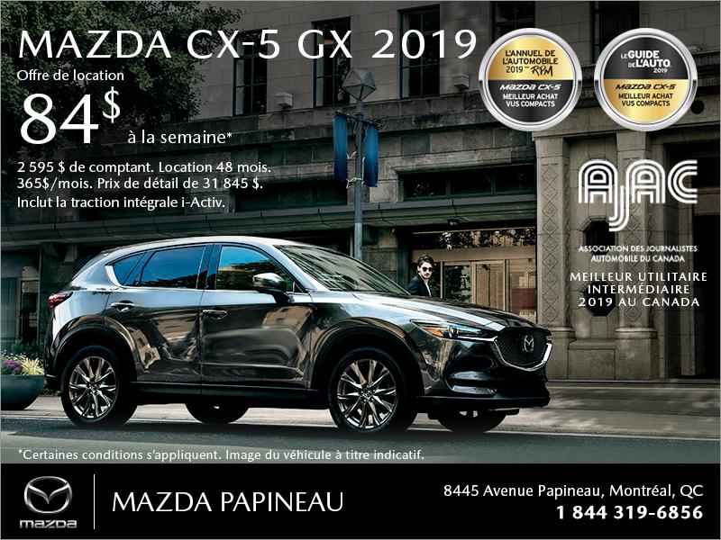 Procurez-vous le Mazda CX-5 2019!