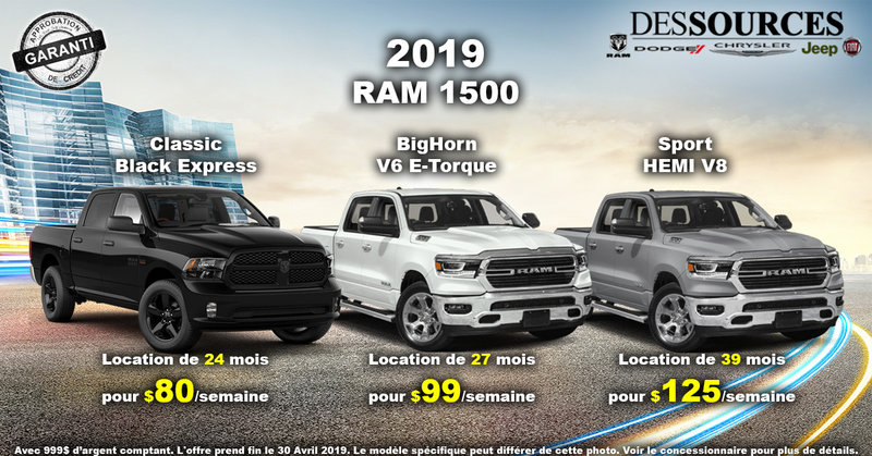 Procurez-vous le RAM 1500 2019