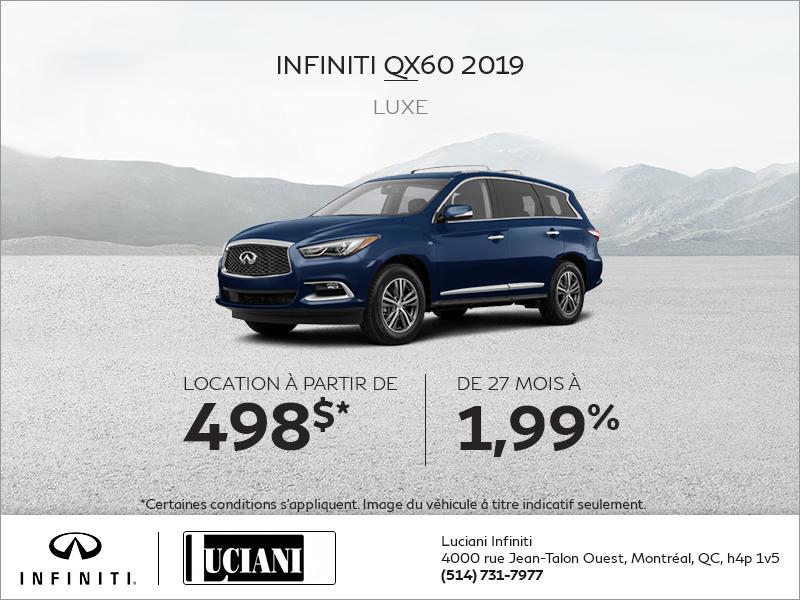 Louez la INFINITI QX60 2019!
