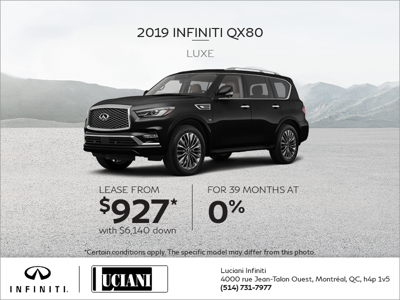 Lease the 2019 INFINITI Qx80!