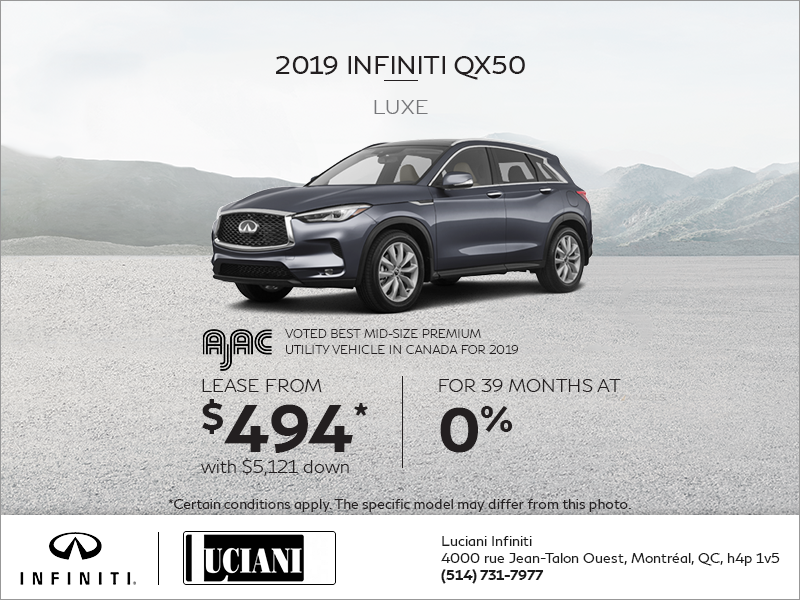 Lease the 2019 INFINITI QX50!