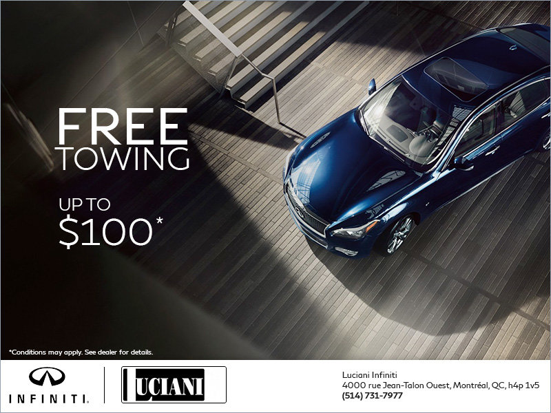 Free towing up to $100