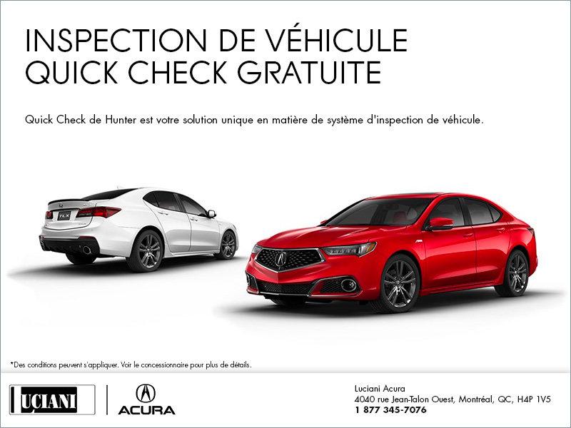 Inspection de véhicule quick check gratuite
