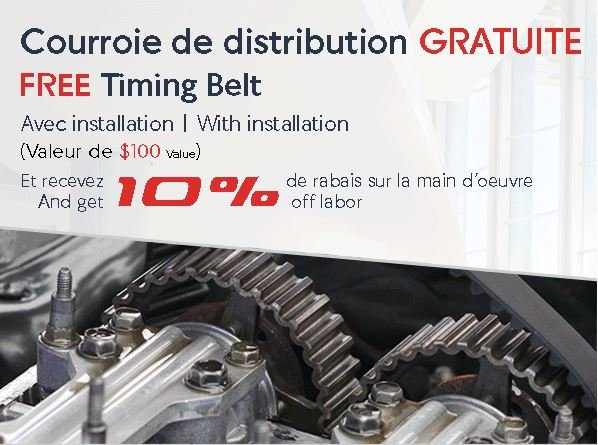 PROMOTION Courroie de Distribution GRATUITE