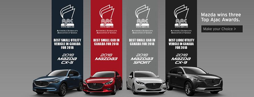 Mazda Wins three top Ajac Awards