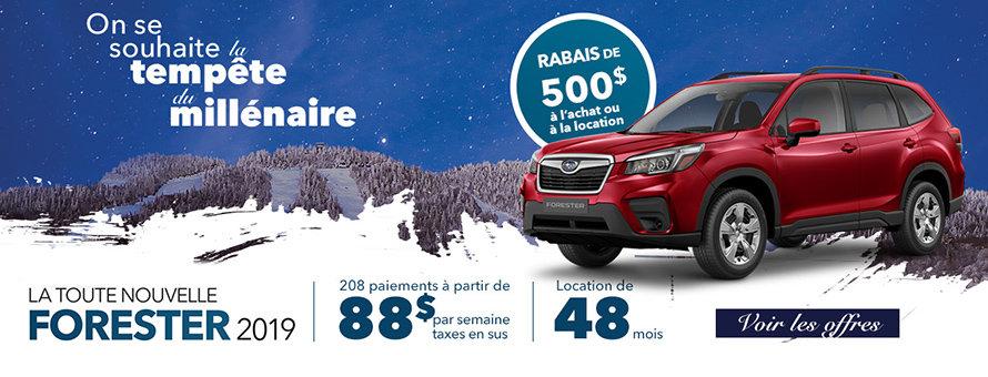 Subaru Forester offres spéciales