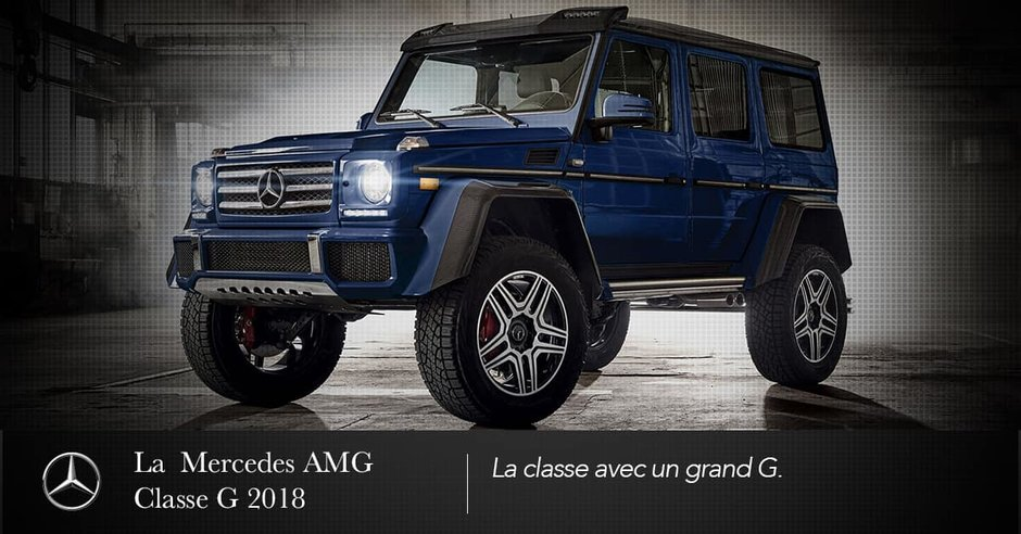 The 2018 Mercedes-AMG G-Class: the class with a big G.