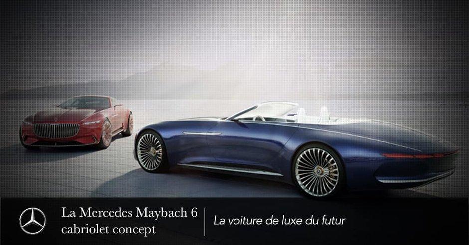 The Concept Mercedes-Maybach 6 convertible.