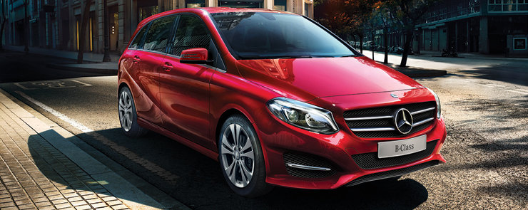 The Mercedes-Benz B-Class, a high-end vehicle very affordable.