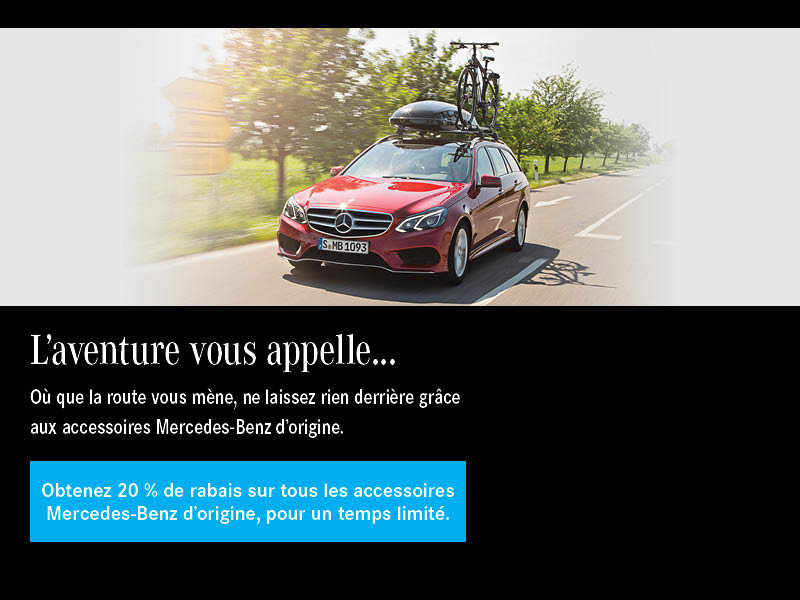 20 % de rabais sur les accessoires d'origine Mercedes-Benz