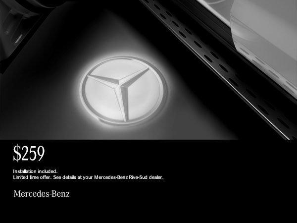 Mercedes-Benz LED Logo projectors.