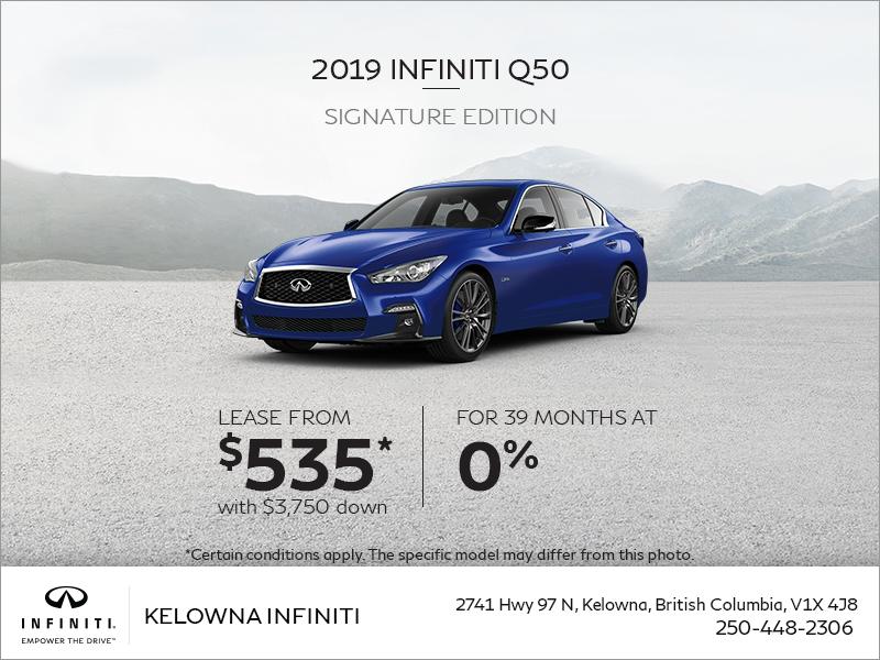 2019 Infiniti Q50 Signature Edition