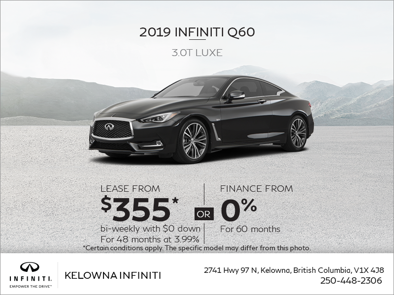 2019 Q60 3.0T Luxe
