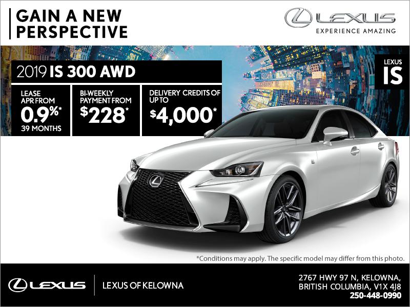 Get the 2019 Lexus IS 300 today!