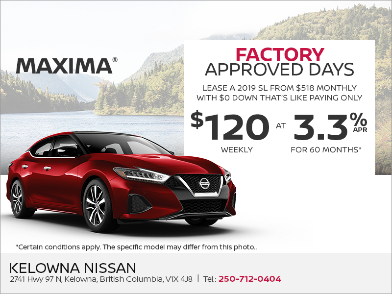 Get the 2019 Nissan Maxima Today!