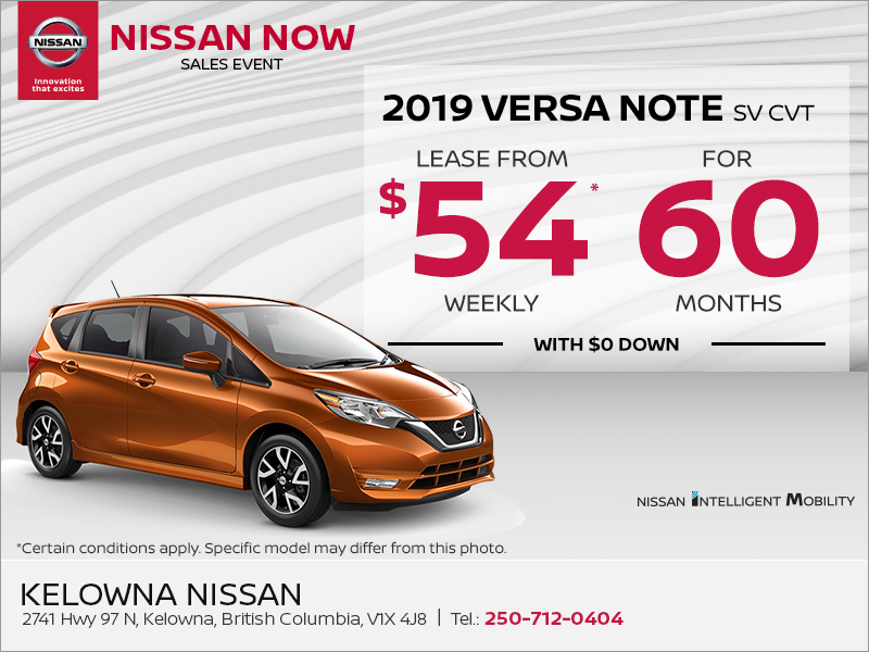 Get the 2019 Nissan Versa Note