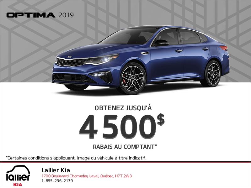 Le Kia Optima 2019