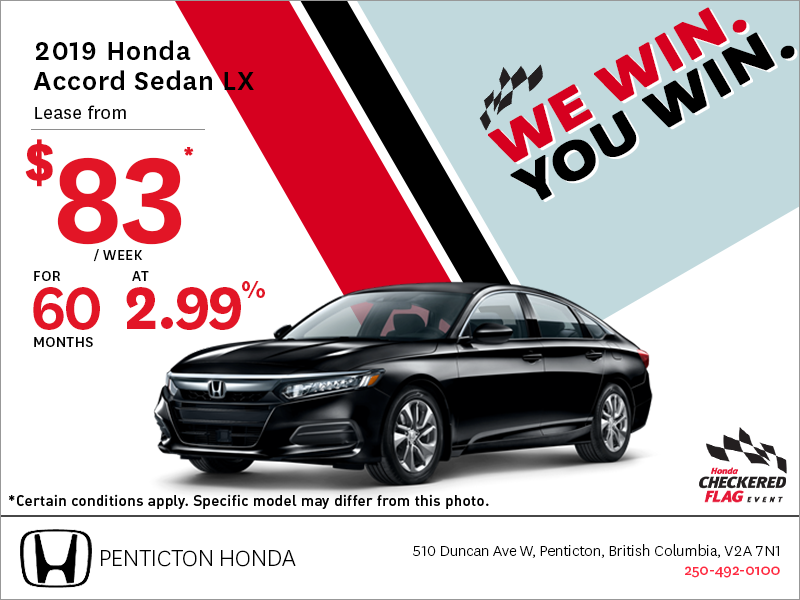 Get the 2019 Honda Accord Sedan Today!