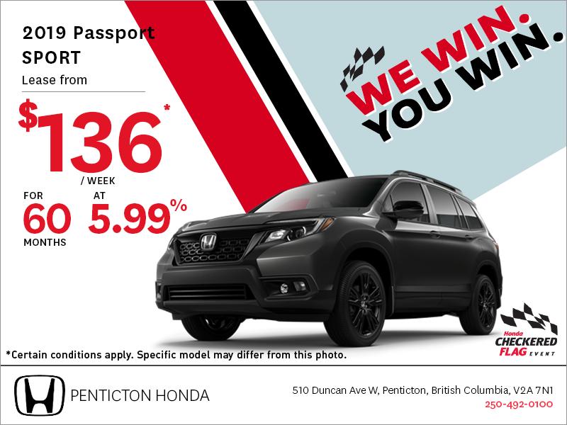 Get the 2019 Honda Passport Today!
