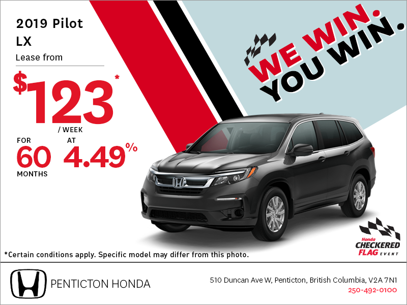 Get the 2019 Honda Pilot Today!