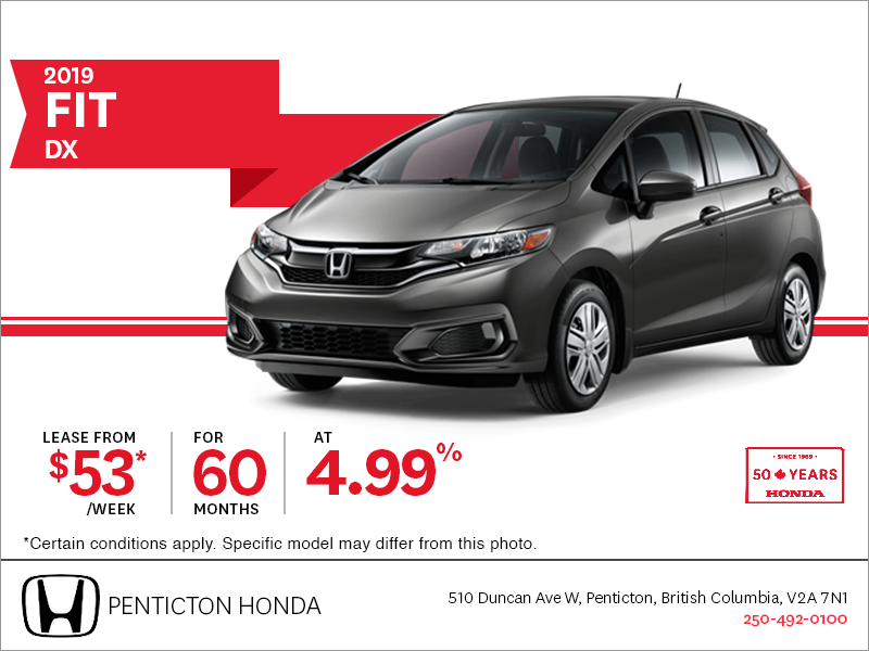Lease the 2019 Honda Fit Today!
