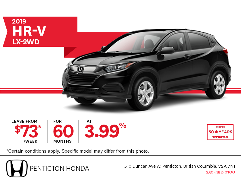 Lease the 2019 Honda HR-V Today!