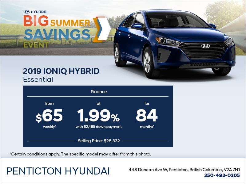 Finance the 2019 Ioniq Hybrid!